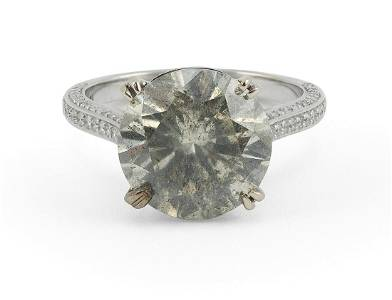 18KT WHITE GOLD AND DIAMOND SOLITAIRE Approx. 3.40