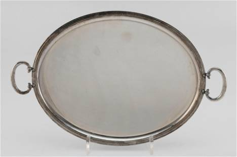CHRISTOFLE SILVER PLATED TRAY France, Second Half of