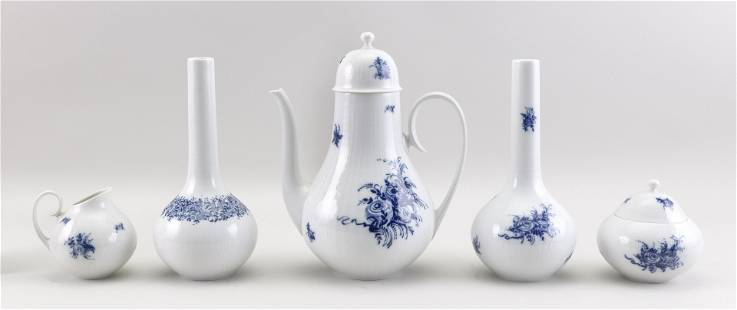 """FIVE PIECES OF BJORN WIINBLAD FOR ROSENTHAL """""""