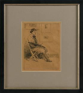 PAUL CADMUS (Connecticut, 1904-1999), Artist with