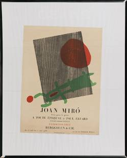 JOAN MIRO EXHIBITION POSTER Mid-20th Century Lithograph