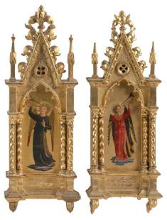 PAIR OF FLORENTINE GRAND TOUR PAINTINGS OF ANGELS AFTER