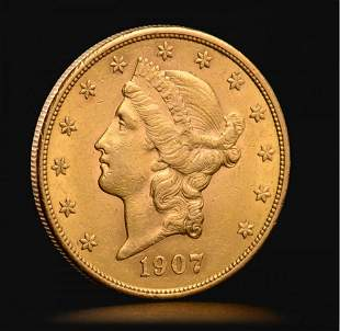 American Liberty Head Double Eagle gold coin