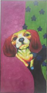 SWEET BEAGLE PUPPY CANVAS PAINTING