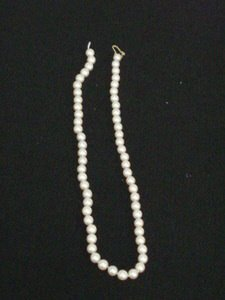 "311: 19"" Strand of  7mm Genuine Cultured Pearls."