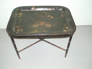 316: Pontypool Lacquer Tray on Stand