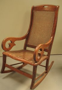320: Tiger Maple and Cane Rocker