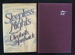 713: Hardwick. Sleepless Nights. Signed 1st Ed.