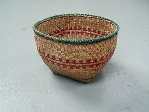 1: Decorative Woven Trinket Basket Nootka?
