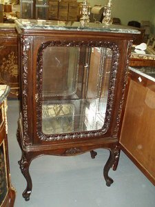 14: Louis XV Style Small Marble Top Vitrine