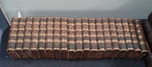 268: Percy Anecdotes 19 Vols 3/4 Green Morocco 1820