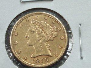 7: 1899-S $5 Gold LIberty Half Eagle