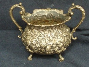12: Steiff Sterling Silver Repousse Bowl