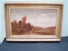 132: CB Russ O/C Autumnal Landscape 1877