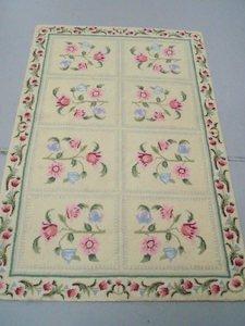 6: Floral Hooked Rug