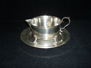 21: Cartier Sterling Silver Pitcher and Under Plate