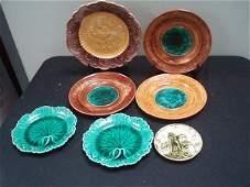 112 7 Majolica Plates  Wedgwood German