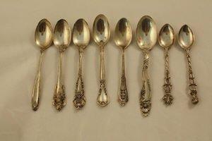 402: 8 Sterling Silver Demitasse Spoons