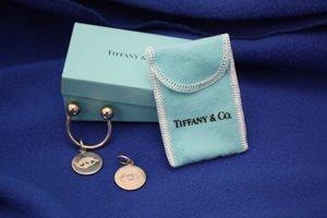 405: Tiffany Sterling Key Fob Eye of Horus Charms