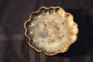 419: Tiffany Studios Bronze Art Nouveau Dish