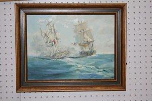 475: Christopher Blossom O/B Sail Ship at Sea