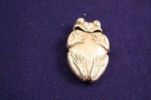 10: Figural Frog Silver Match Safe Vesta