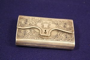 11: Chased Silver Card Cigarette Case