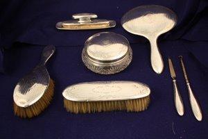 15: 9 pc Alvin Sterling Silver Dresser Vanity Set