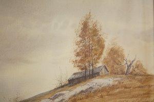 107: Bill Ely CT Artist Landscape Watercolor - 3