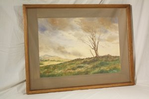 Connecticut watercolor artists directory - 108 Milford Ct Artist Bill Ely Watercolor Landscape