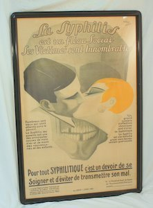 117: 1926 French Syphilis Advertising Art Poster