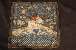123:Embroidered Chinese Imperial Court Rank Badge