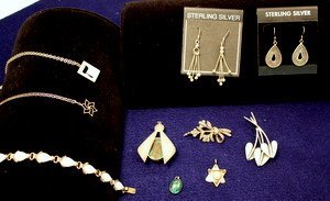 1: Assorted Group of Sterling Jewelry - Judaica