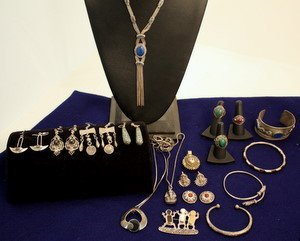3: Ethnic & Exotic Sterling Silver Jewelry 24 Pieces