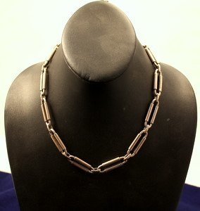 8: Mexican Sterling Silver Link Necklace