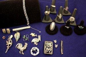 23: Sterling Silver w/Marcasite Taxco Danish