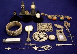 24: Early 20thC Sterling Silver Jewelry Lot