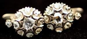 113: 19th Century Rose Cut Diamond Earrings
