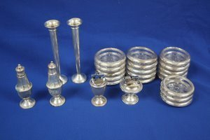 1: Weighted Sterling Silver-Coasters Vases Lighters