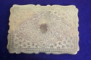 24: Persian Style English Sterling Silver Card Case