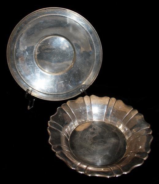 1: Gorham Sterling Silver Dish & Polish Sterling Bowl