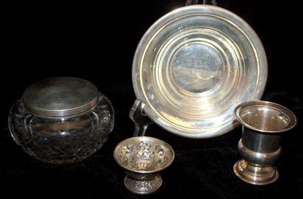 2: Sterling: Tiffany Mini Urn Dutch Repousse + More