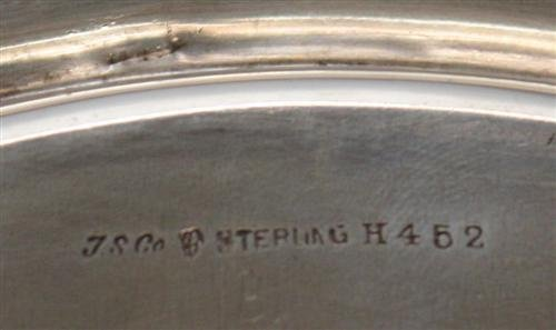 7: J. S. Co. Sterling Silver Tray with Handle - 8