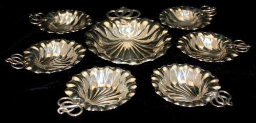 8: Seven Piece Gorham Sterling Silver Nut Set