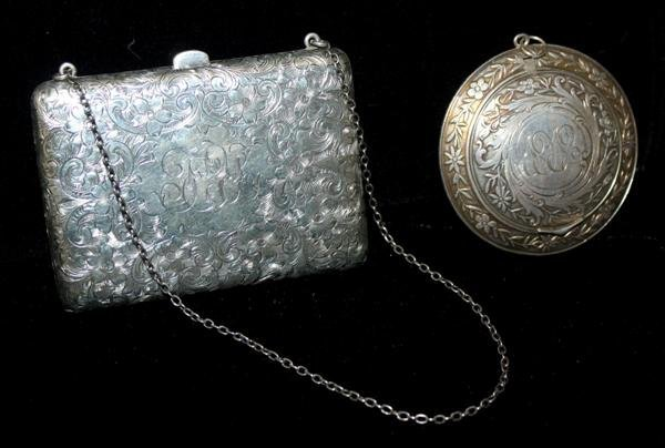 20: Sterling Silver Card Case & Compact