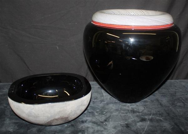 80: Murano  Barbini Bowl & Tagliapietra Limited Ed Vase