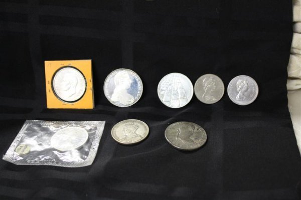 24: Silver Coins: 1821 Reales, Canadian Israel Thaler