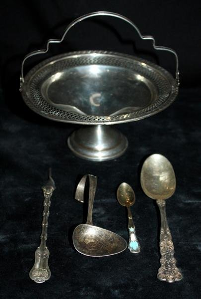 8: Sterling: Invalid Feeder Enamel Footed Compote