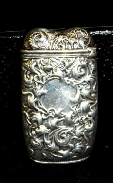 10: Sterling Silver Repousse Match Safe