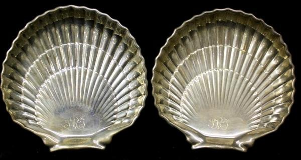12: Pair Gorham Sterling Silver Shell Form Dishes